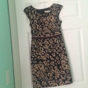 Black and Tan print dress